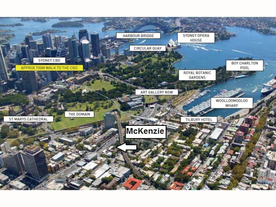 McKenzie, situated 700m from the CBD