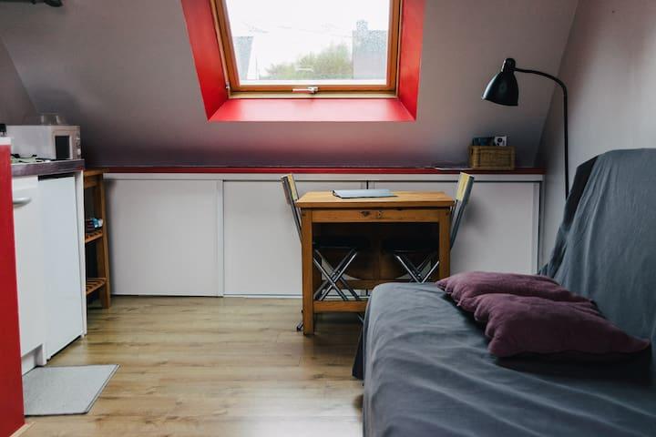 Studio dans maison aux portes du Golfe du Morbihan
