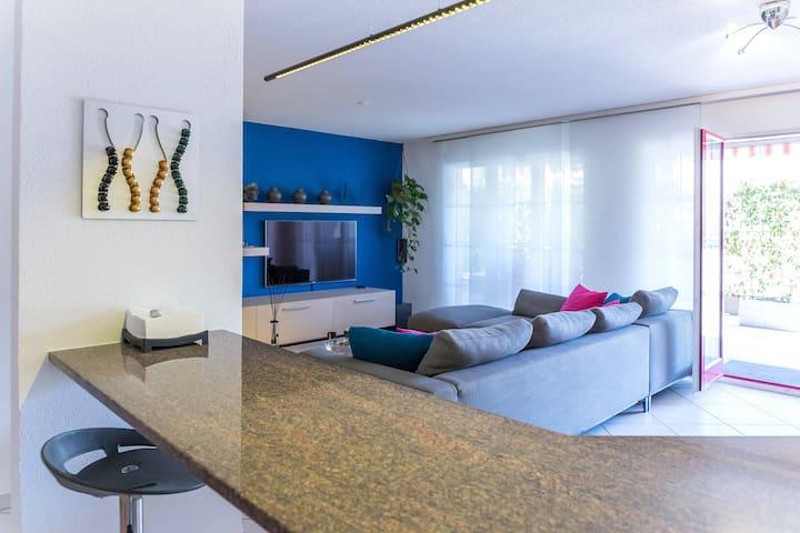 Beautiful modern apart w/terrace - Montreux - Lägenhet