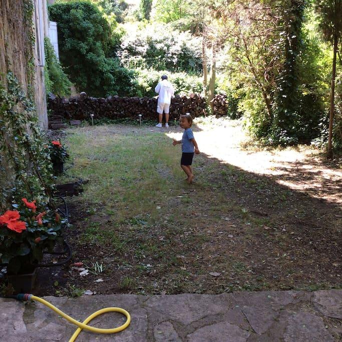 le jardin.