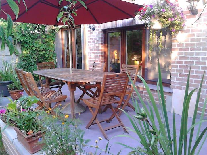 Loft côté jardin frais et chatoyant