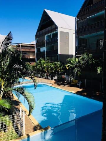 Studio de 40 m2, résidence sécurisée avec piscine
