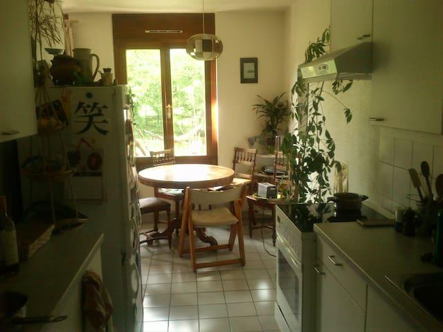Appartement avec jardin en campagne