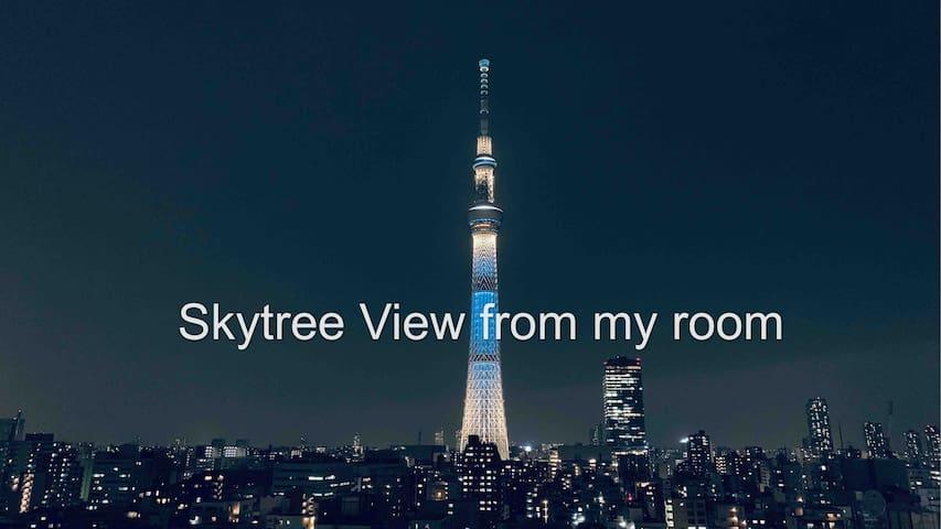 skytree view/6min train to akihabara/free WIFI