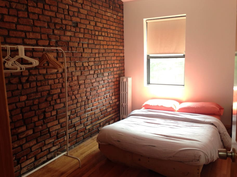 Small bedroom with a double size bed, sleeps two comfortably,