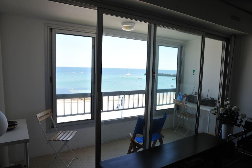 Balcon terrasse sur mer