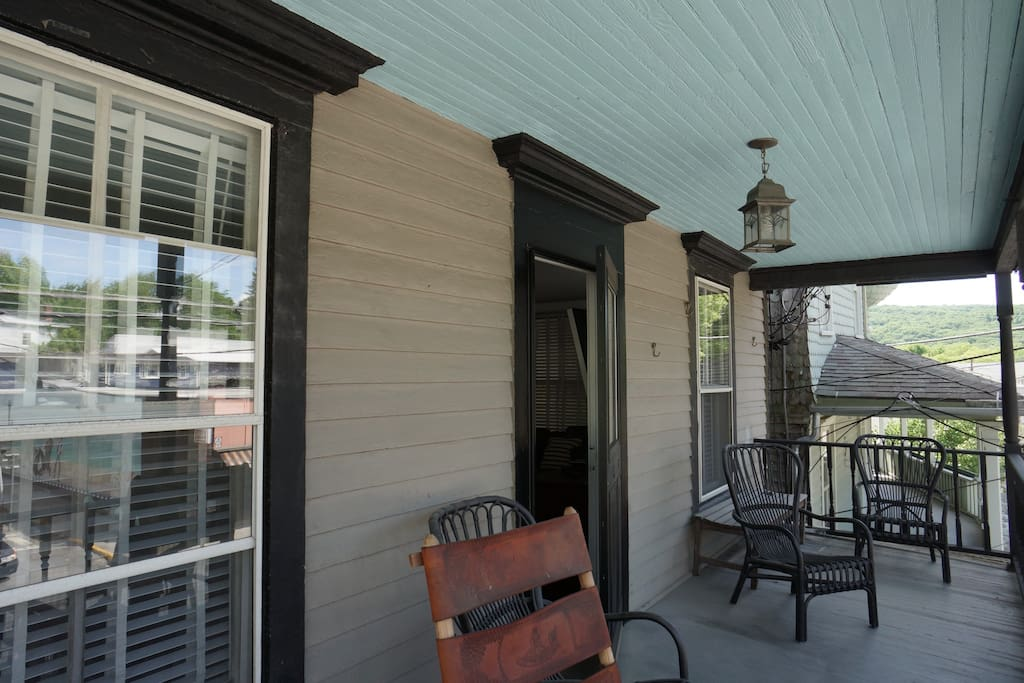 Porch overlooking Main St