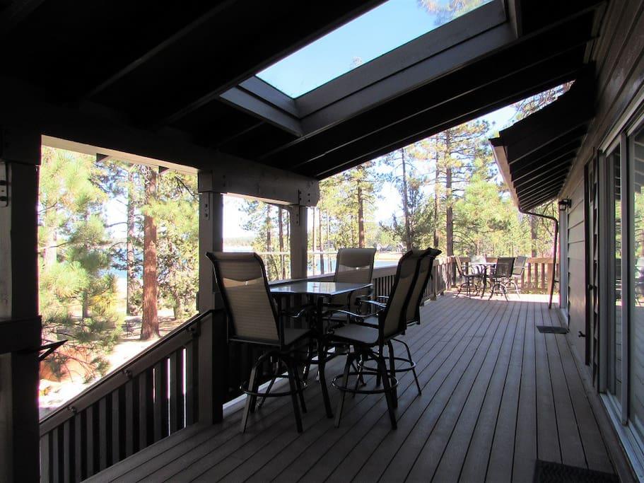 Deck - Patio Furniture and Lake Views
