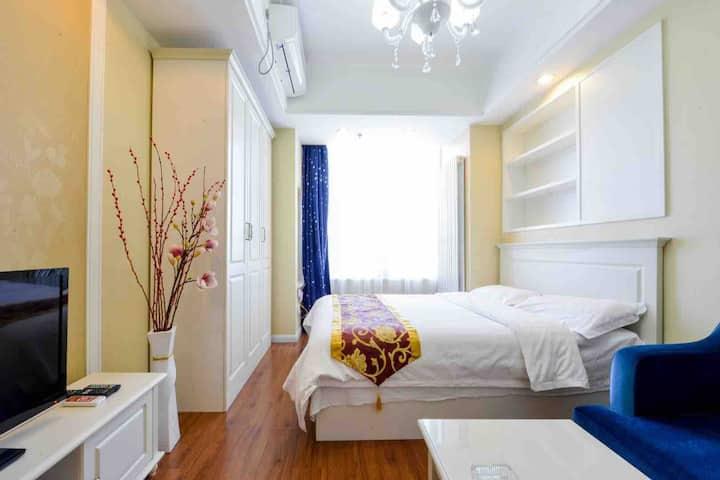 (可月租,长租)大连三八全新温馨舒适大床房,近火车站,近东港音乐喷泉,威尼斯水城,歹街,交通便利,