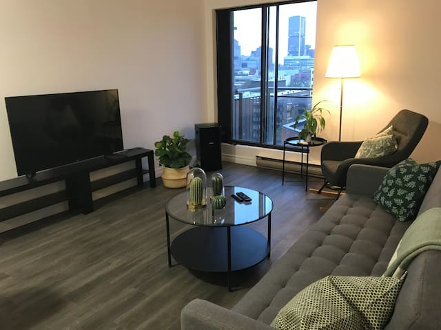 Downtown modern condo with a balcony!