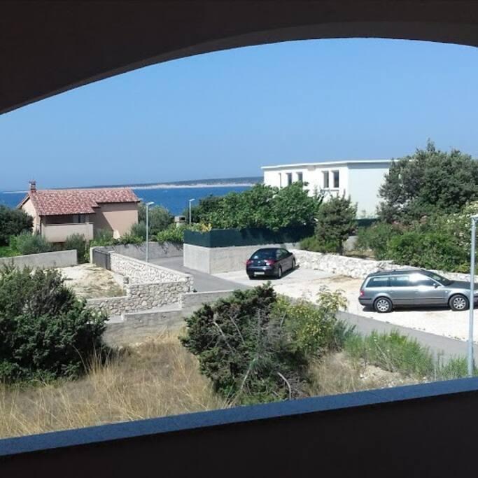 Pogled sa terase na more.