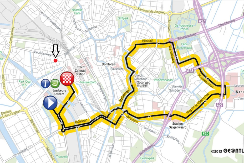 500m to the finish of the Tour de France etappe 1