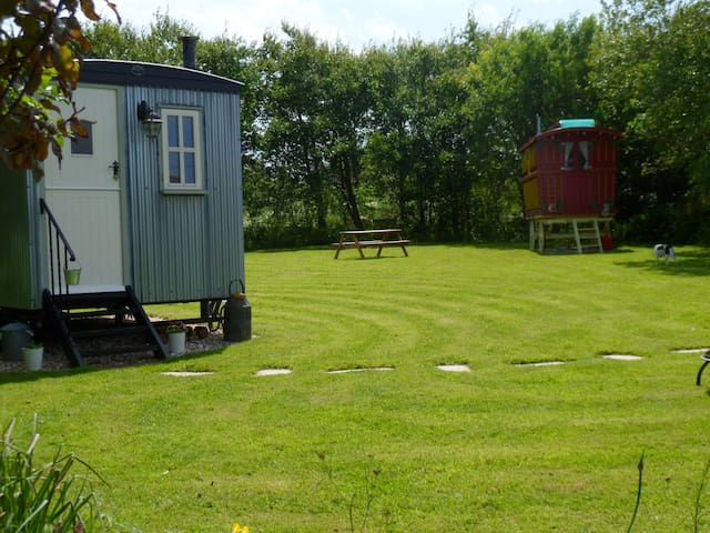 shepherds  hut  wildflower cottage  perranporth