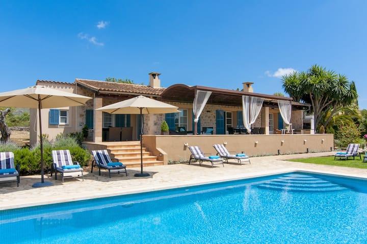 Beautiful Finca Son Asopa I with Mountain View, Pool, Wi-Fi, Garden & Terrace; Parking Available