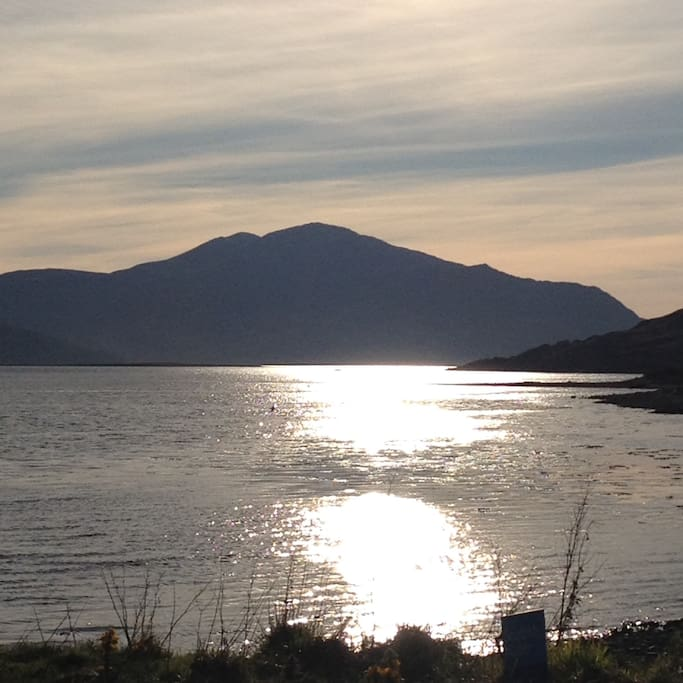 View towards Skye from front of house