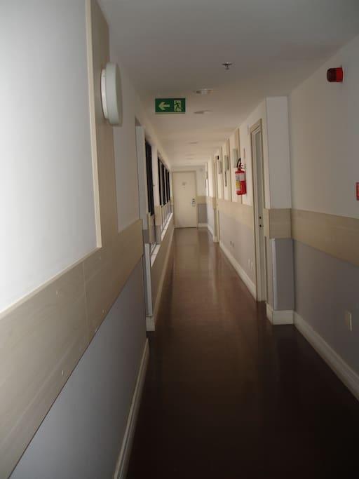 Corredor de acesso ao quarto