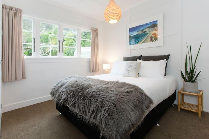 Bedroom three with comfy queen bed