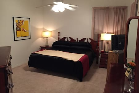 Master suite, attached private bath, King bed - Orlando - House