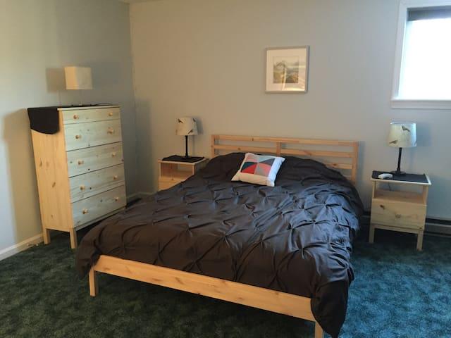 Second bedroom features a queen...