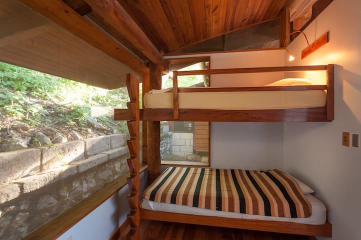Big kids or little kids will enjoy the bunk bed room!