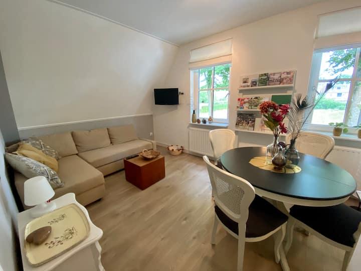 Thuis op de Veluwe op moderne verdieping van villa
