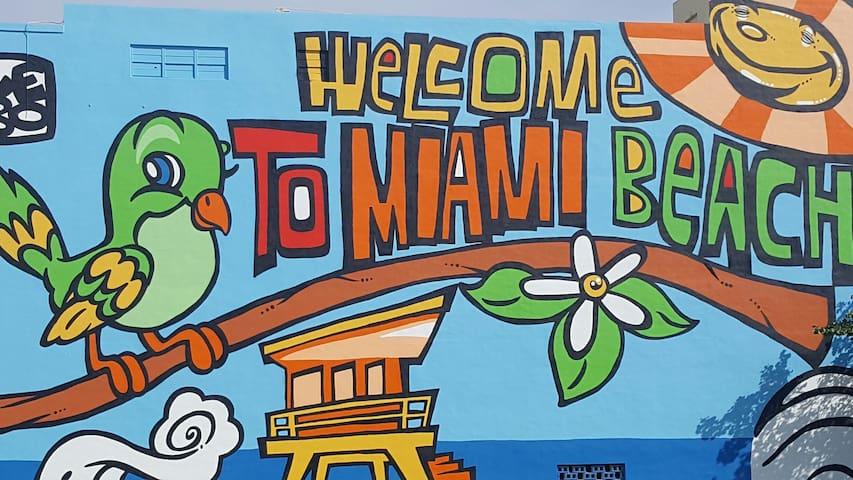 B&B Luxury w/private bath / tours & transport serv - Miami Beach - Lakás