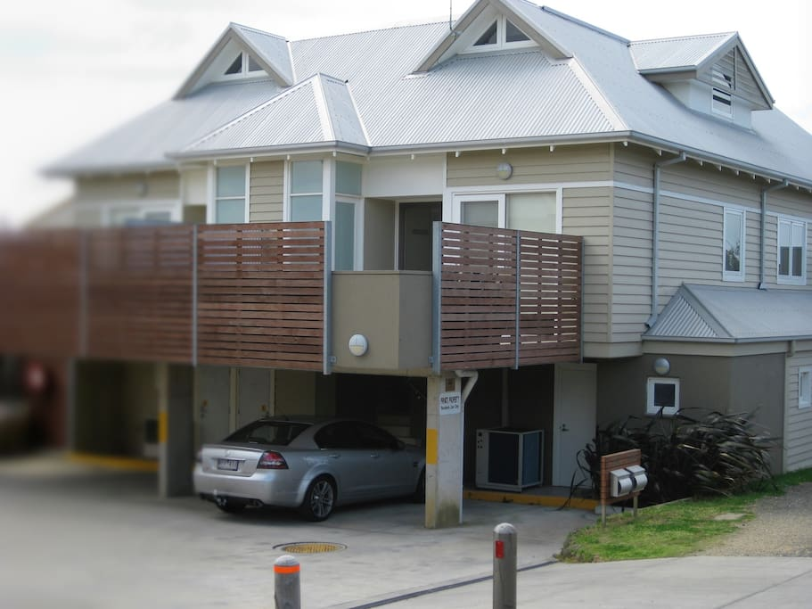 Rear of apartment