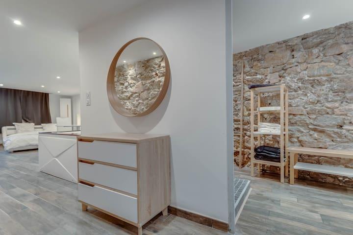Loft atypique avec Sauna et Balnéo