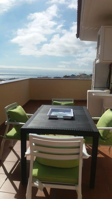 La terraza tiene vistas espectaculares