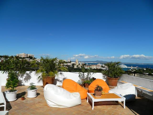 Les jardins suspendus- Penthouse - Palma di Maiorca - Bed & Breakfast