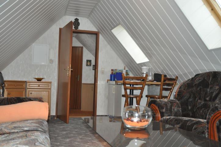 2-Raum-Wohnung, gemütlich, voll ausgestattet - Mülsen - Lejlighed