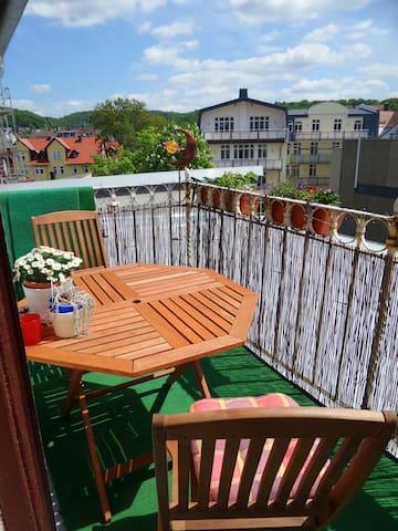 Appartment mit Südbalkon im Zentrum - Marburg - Apartmen