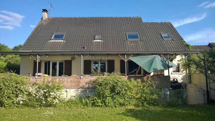 Grande maison familiale avec jardin - Saint-Ouen-l'Aumône - Rumah