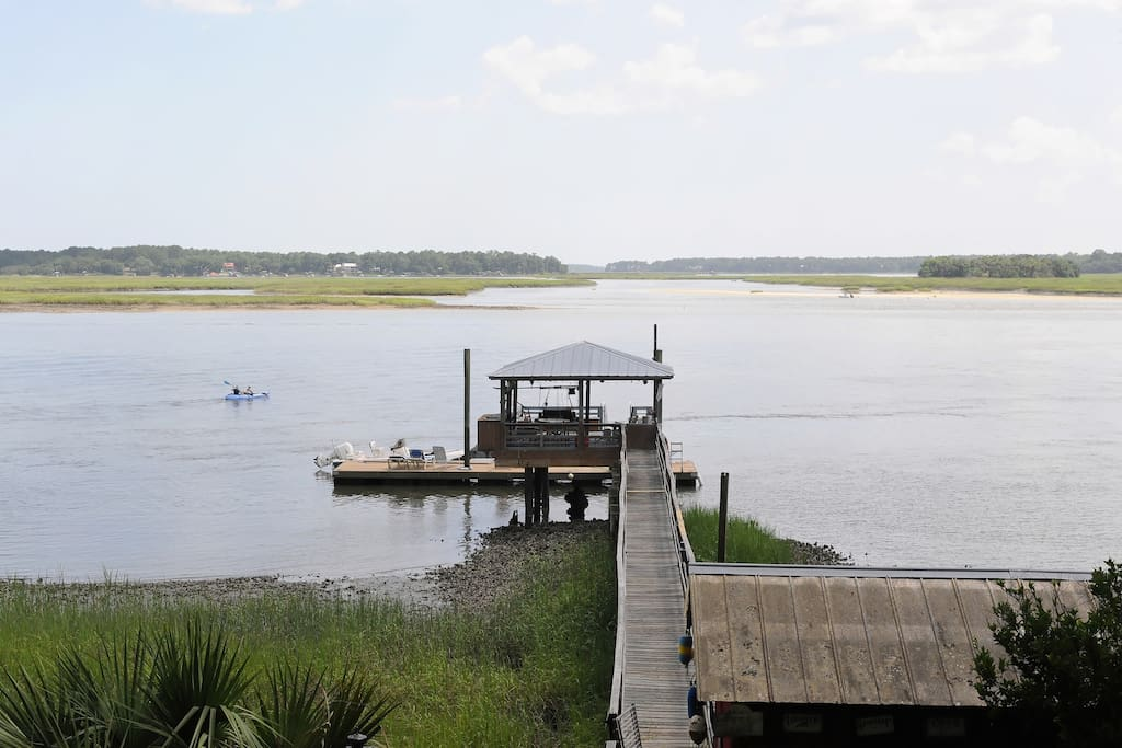 Your dock on the May River while you visit