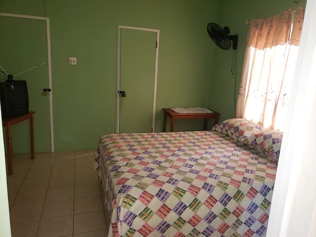 Level two room #6 $60 per night. your own A/c room, kitchen and bathroom