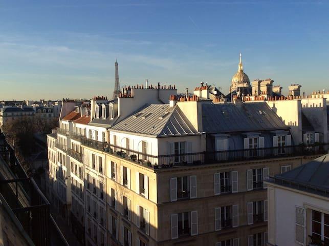 Appartement calme vue Tour Eiffel - Paris - Wohnung