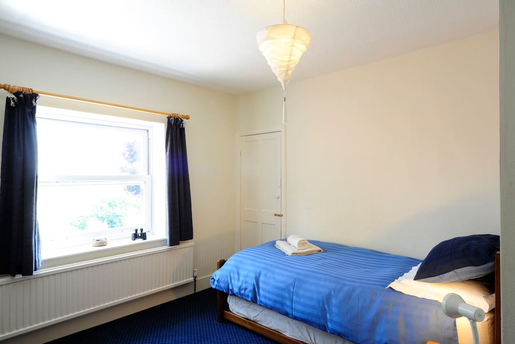 Single room with plenty of storage and lovely open views
