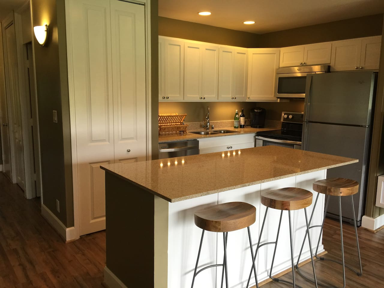 Customized fully equipped kitchen with stylish  touches