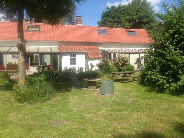fermette rénovée avec grand jardin - Fontaine-sur-Somme - Dům