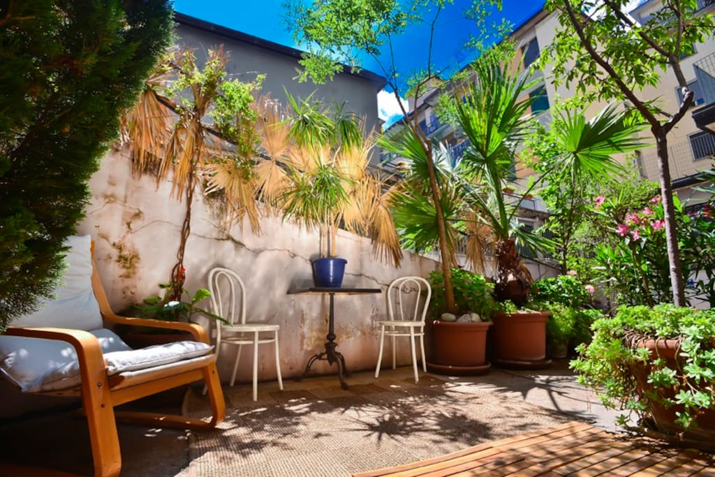 Part of Italian living is being outside, this small garden beats a balcony any day.