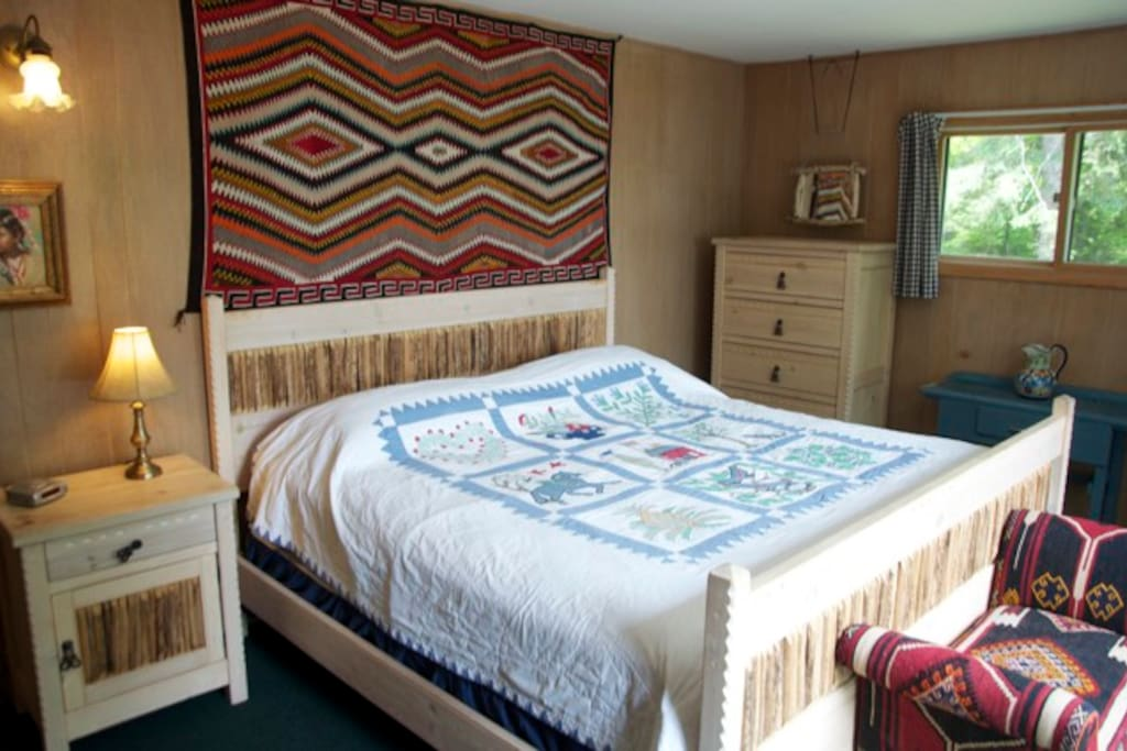 Master bedroom features California King Bed
