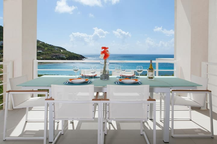 Modern Ocean View Villa, Huge Lap Pool, AC, Free Wifi, Sat TV, Beach Access
