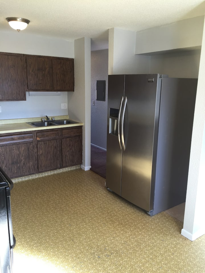 One bedroom partially furnished Stanton apartment.