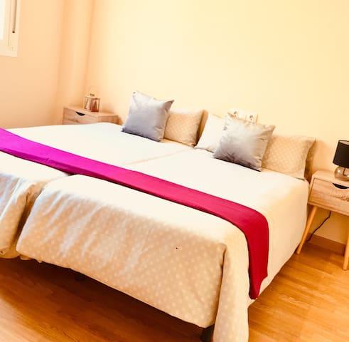 Habitación privada y confortable. A/A