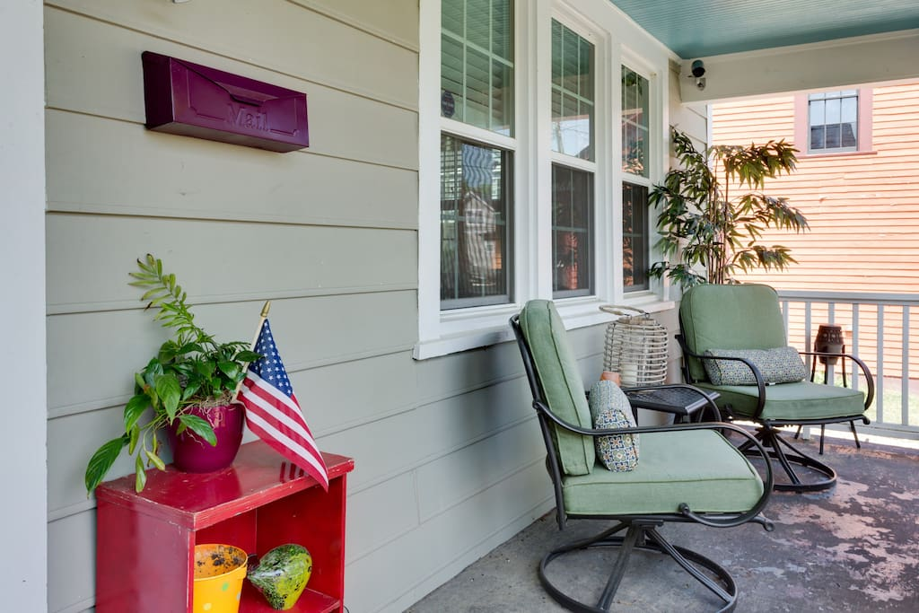 The porch is quite relaxing for morning coffee or a cold brew :)