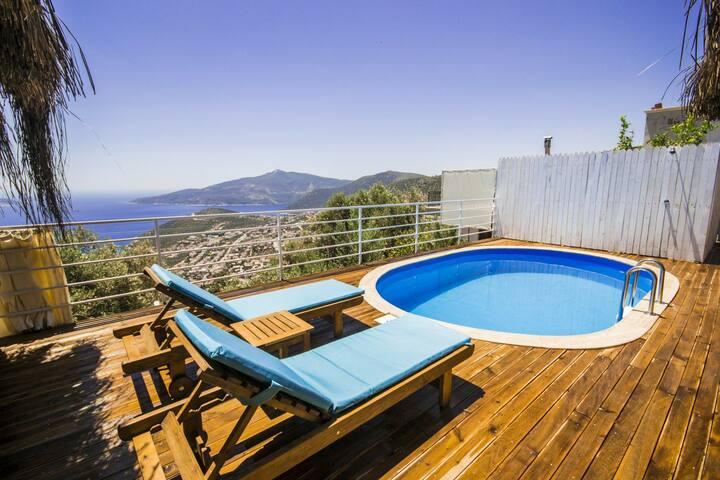 Villa Evo, Kalkan  koy manzaralı merkeze yakın