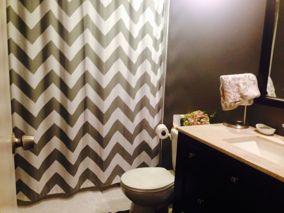 Remodeled bath - shower and tub