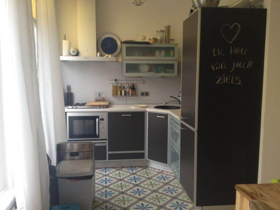 small complete kitchen