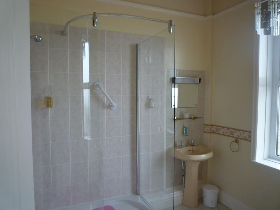 Power Shower with grab bars