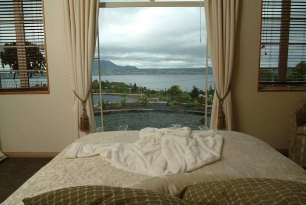 Lake view from the bed.